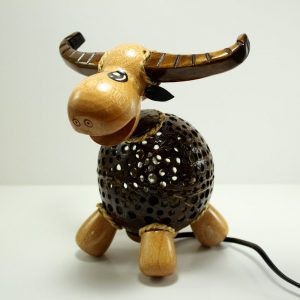 Bull Coconut Lamp