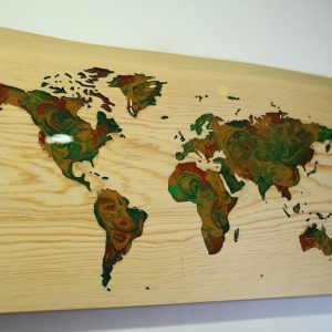 World Map (Earth Tones)