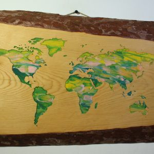 World Map (Green and yellow)