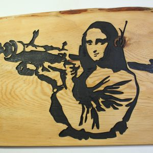 Mona Lisa with Bazooka