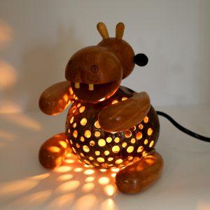 Hippo Coconut Lamp