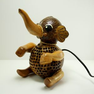 Baby Elephant Coconut Lamp
