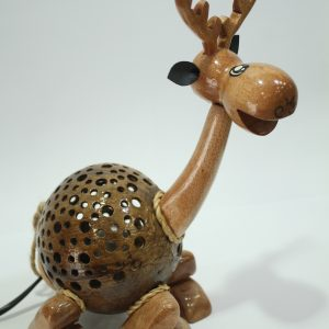 Stag Coconut Lamp