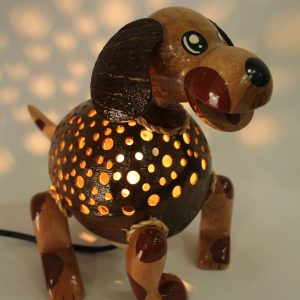 Dog (standing) Coconut Lamp