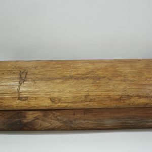 Rustic Wooden Box (L) – Dark Brown